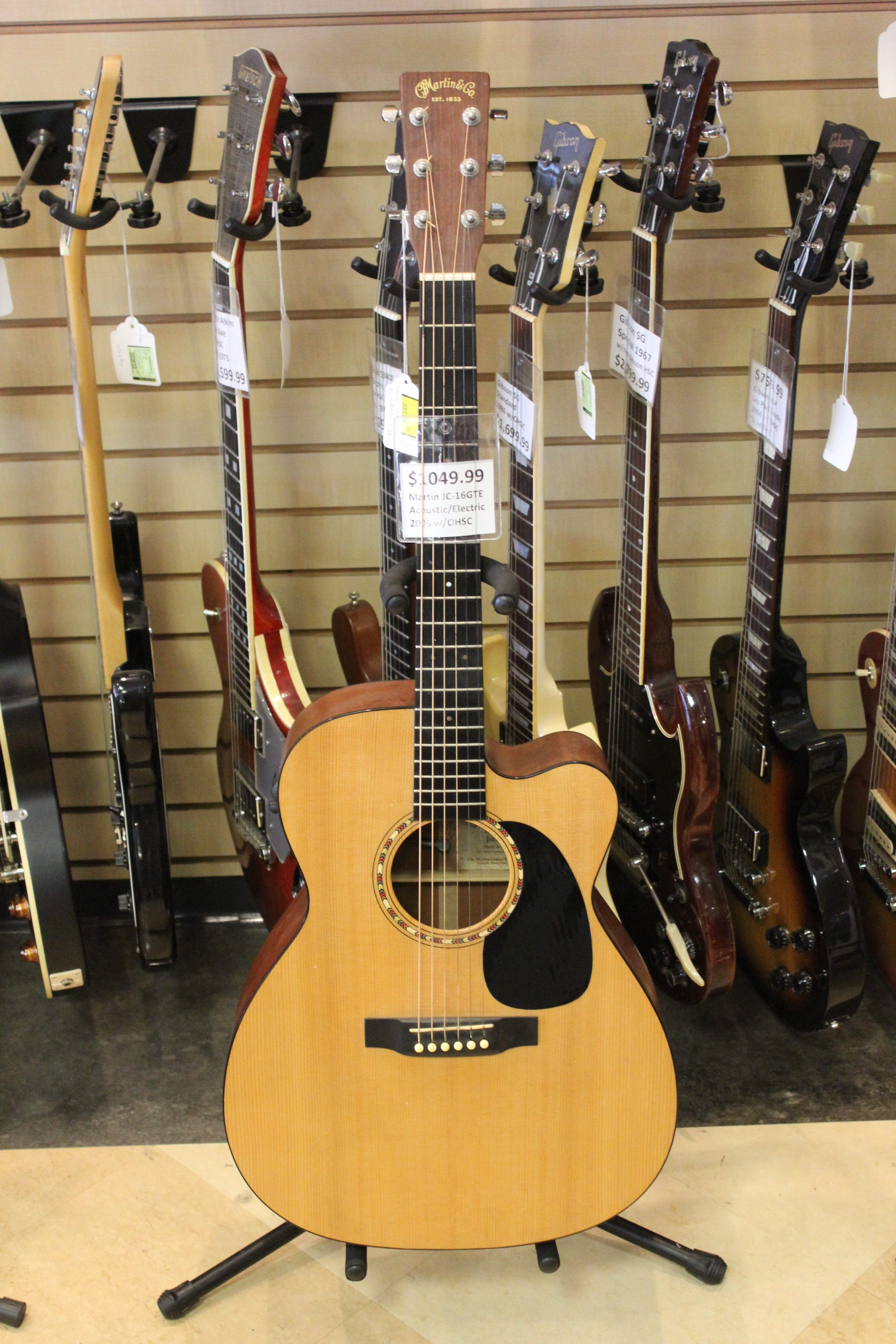 martin jc 16gte acoustic electric guitar 2005 used ted 39 s pawn shop. Black Bedroom Furniture Sets. Home Design Ideas