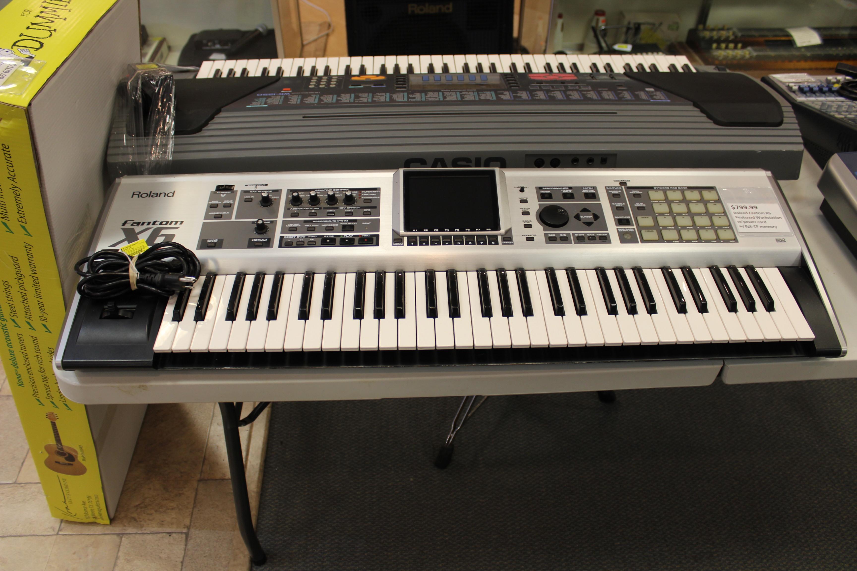 roland fantom x6 keyboard workstation used ted 39 s pawn shop. Black Bedroom Furniture Sets. Home Design Ideas