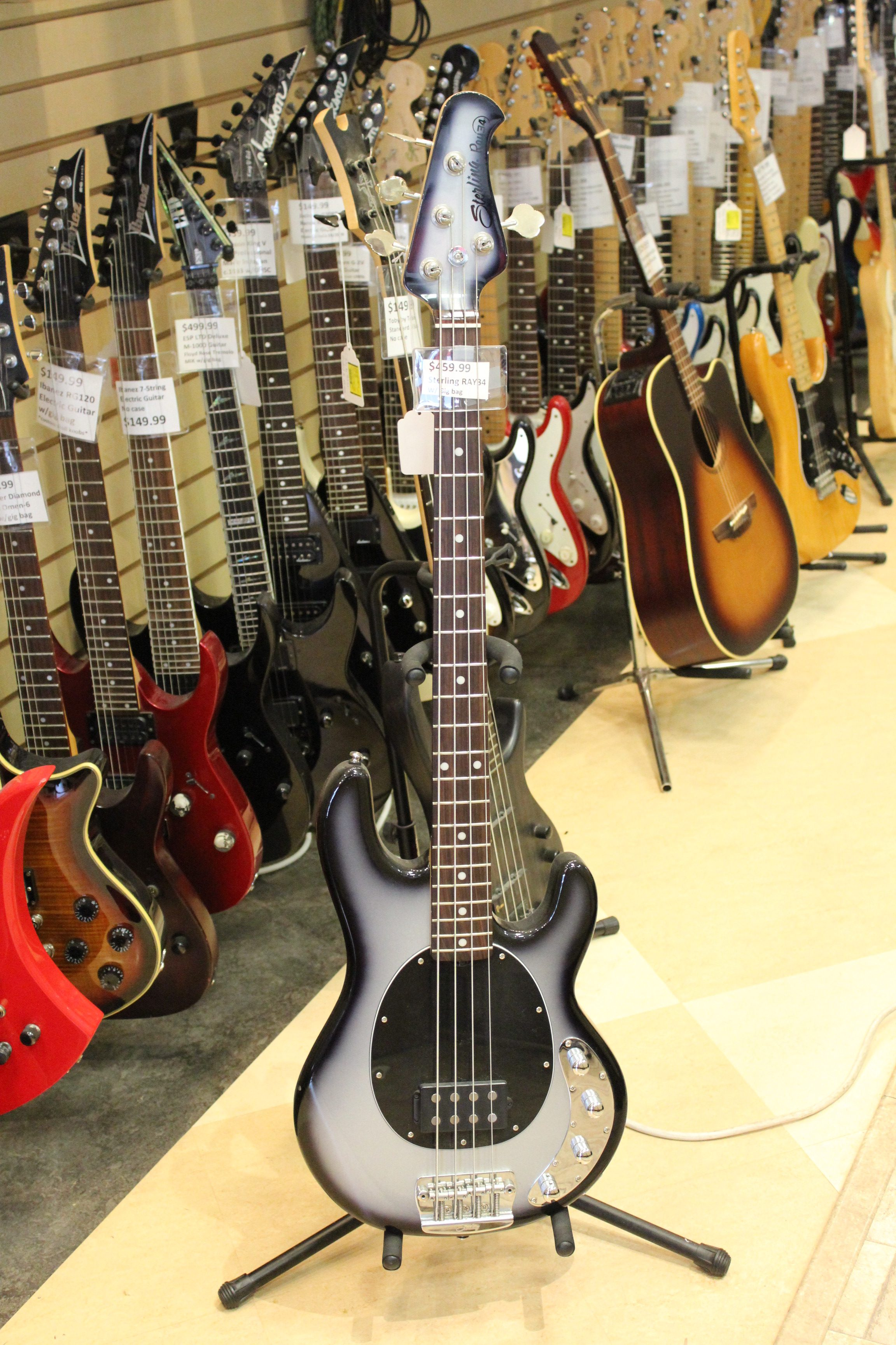 sterling ray34 4 string bass guitar used ted 39 s pawn shop. Black Bedroom Furniture Sets. Home Design Ideas