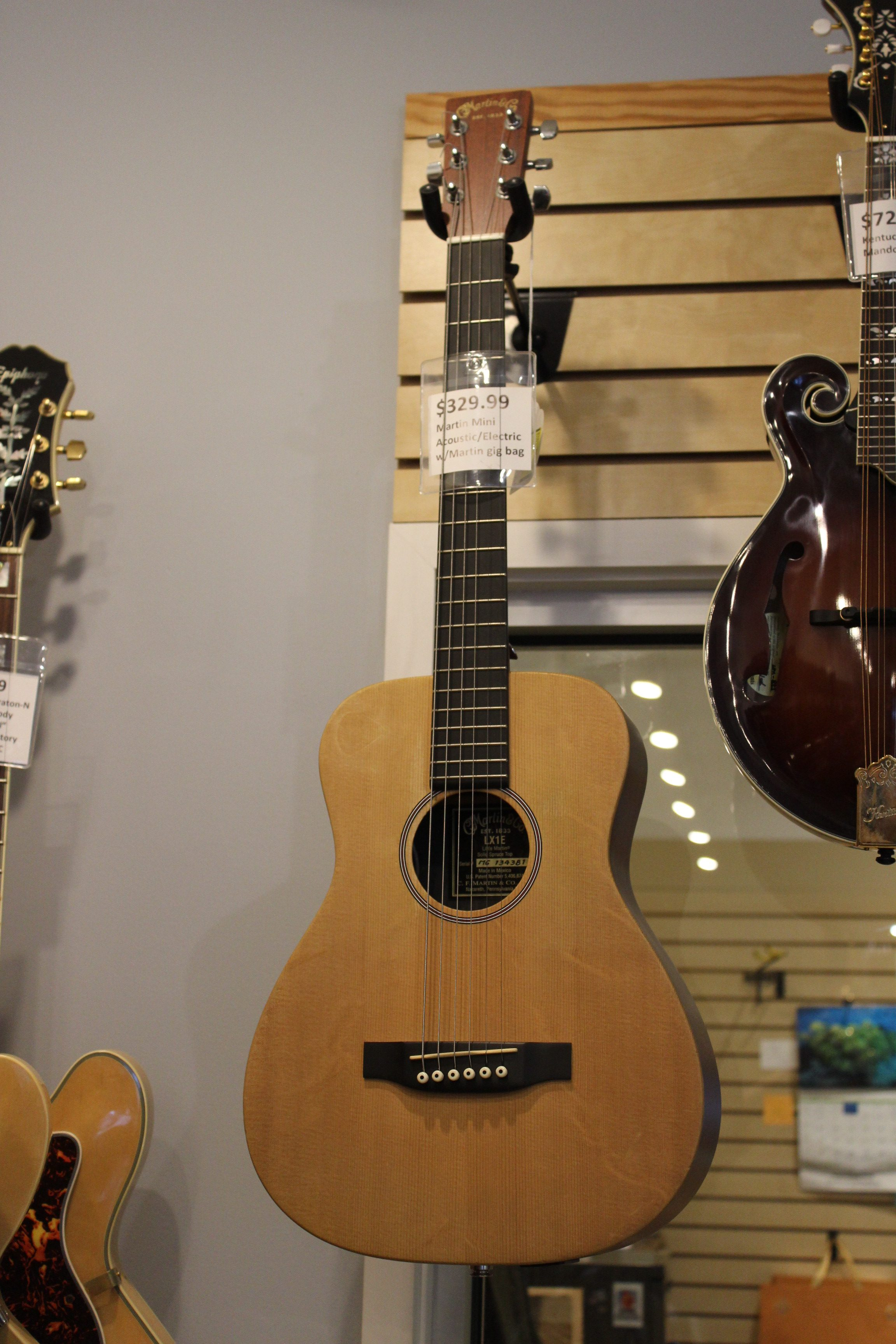 martin mini acoustic electric guitar used ted 39 s pawn shop. Black Bedroom Furniture Sets. Home Design Ideas