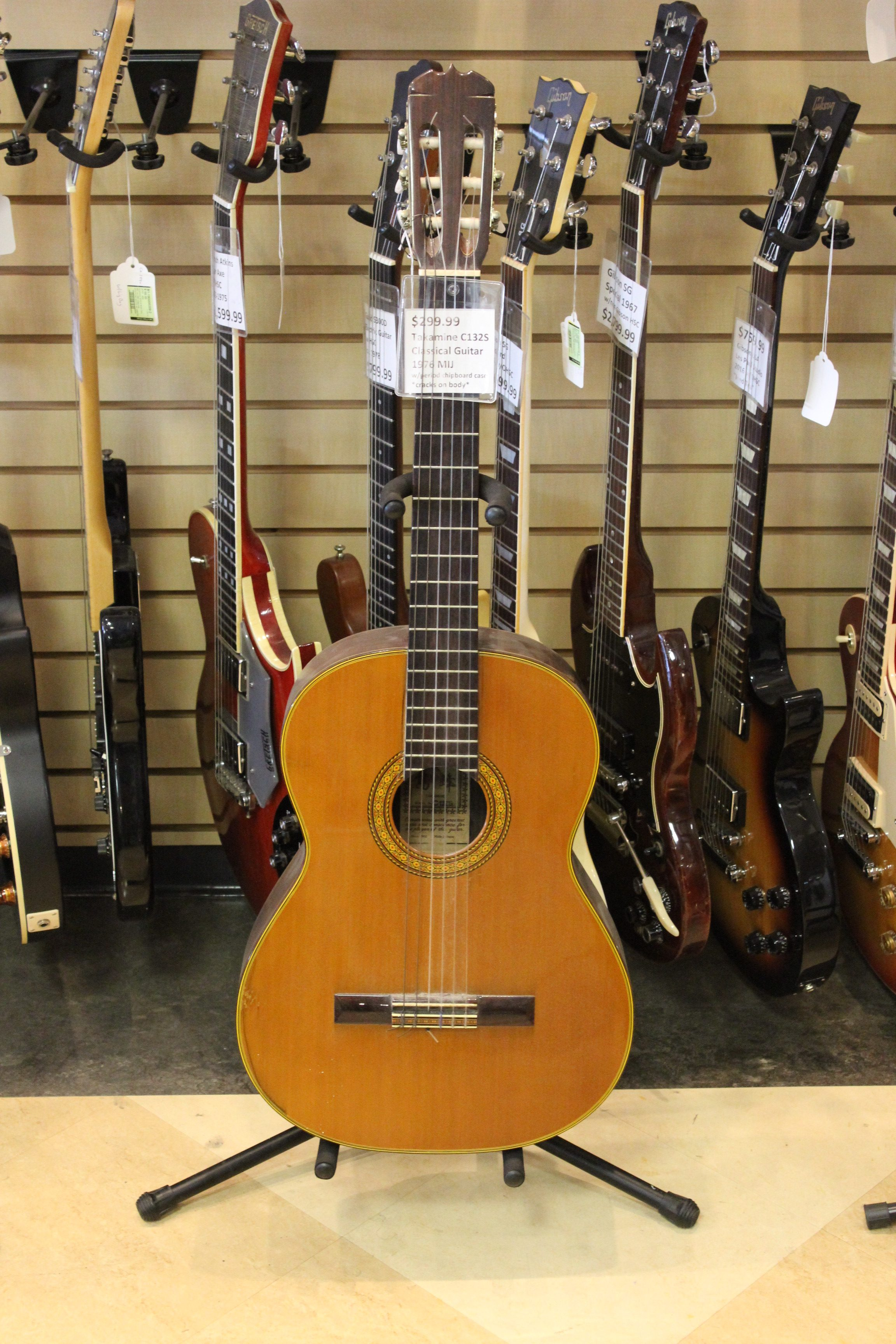 takamine c132s classical acoustic guitar mij 1976 used ted 39 s pawn shop