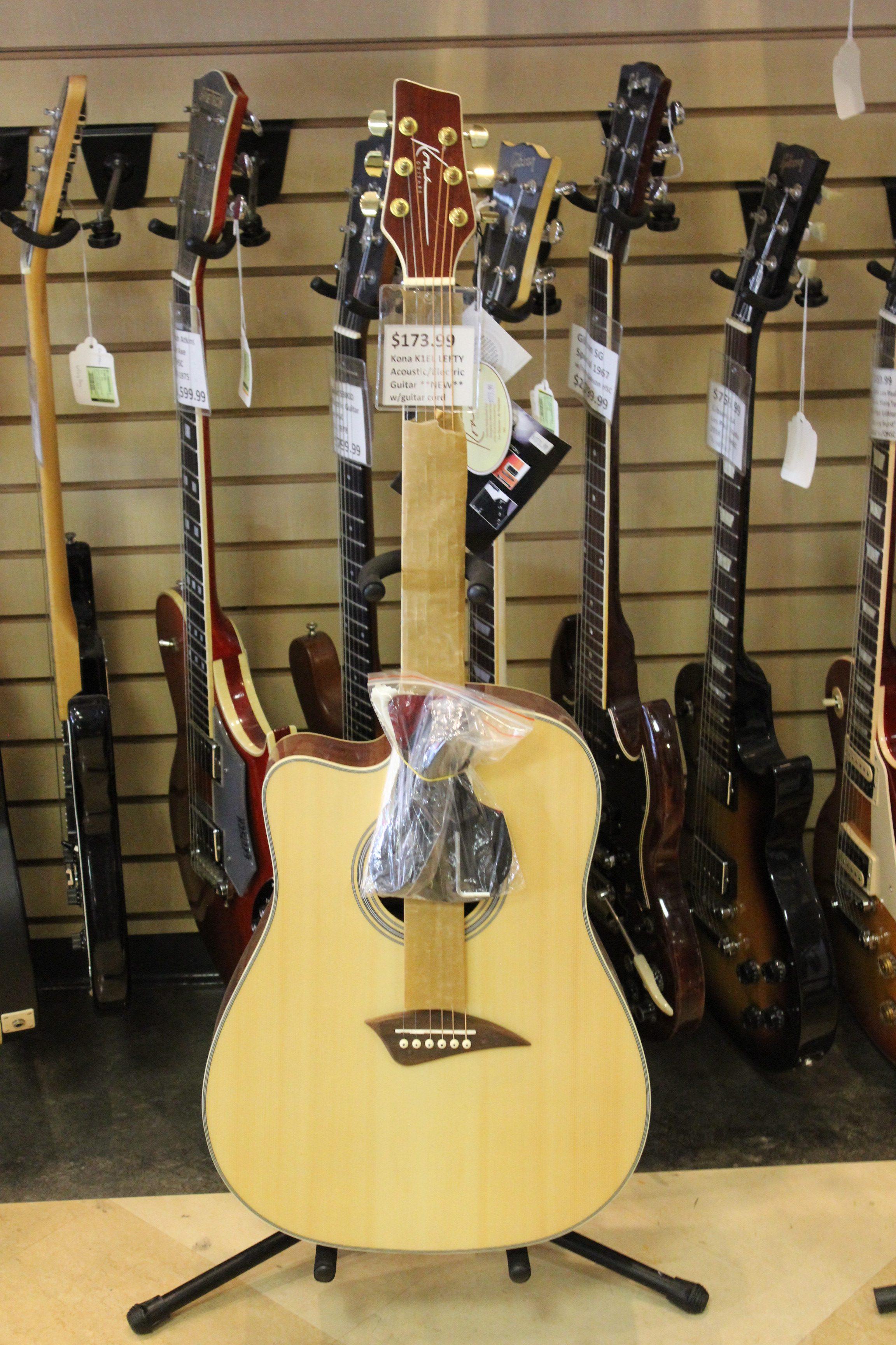 kona k1el lefty acoustic electric guitar new ted 39 s pawn shop. Black Bedroom Furniture Sets. Home Design Ideas