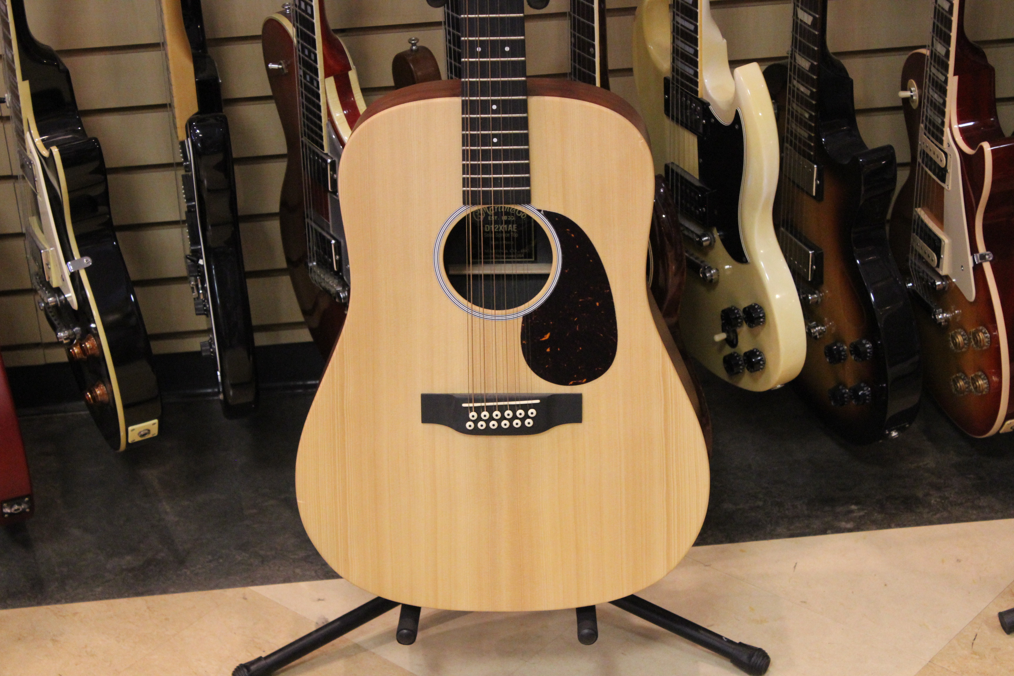 martin d12x1ae 12 string acoustic electric guitar used like new ted 39 s pawn shop. Black Bedroom Furniture Sets. Home Design Ideas