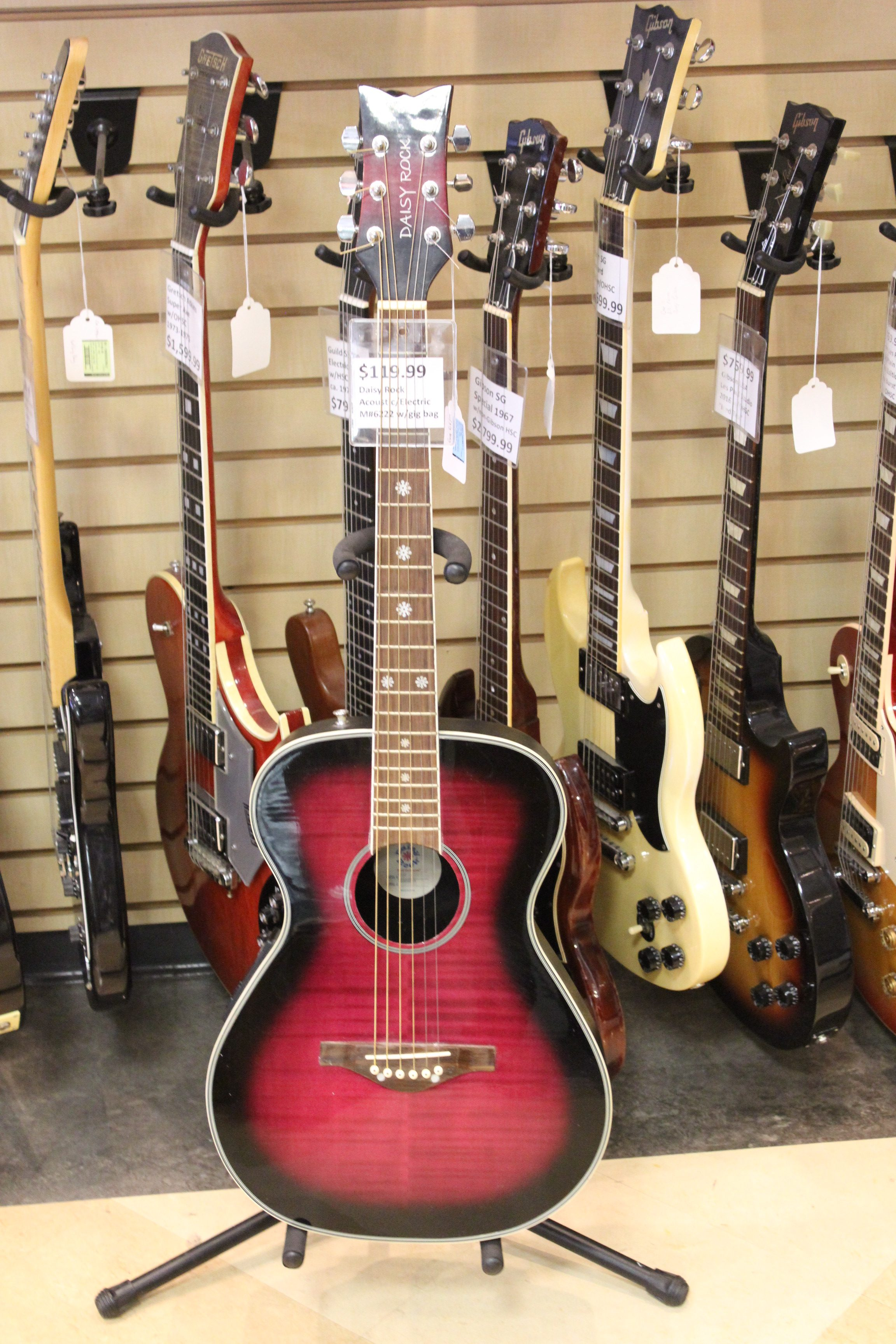 daisy rock 6222 acoustic electric guitar used ted 39 s pawn shop. Black Bedroom Furniture Sets. Home Design Ideas