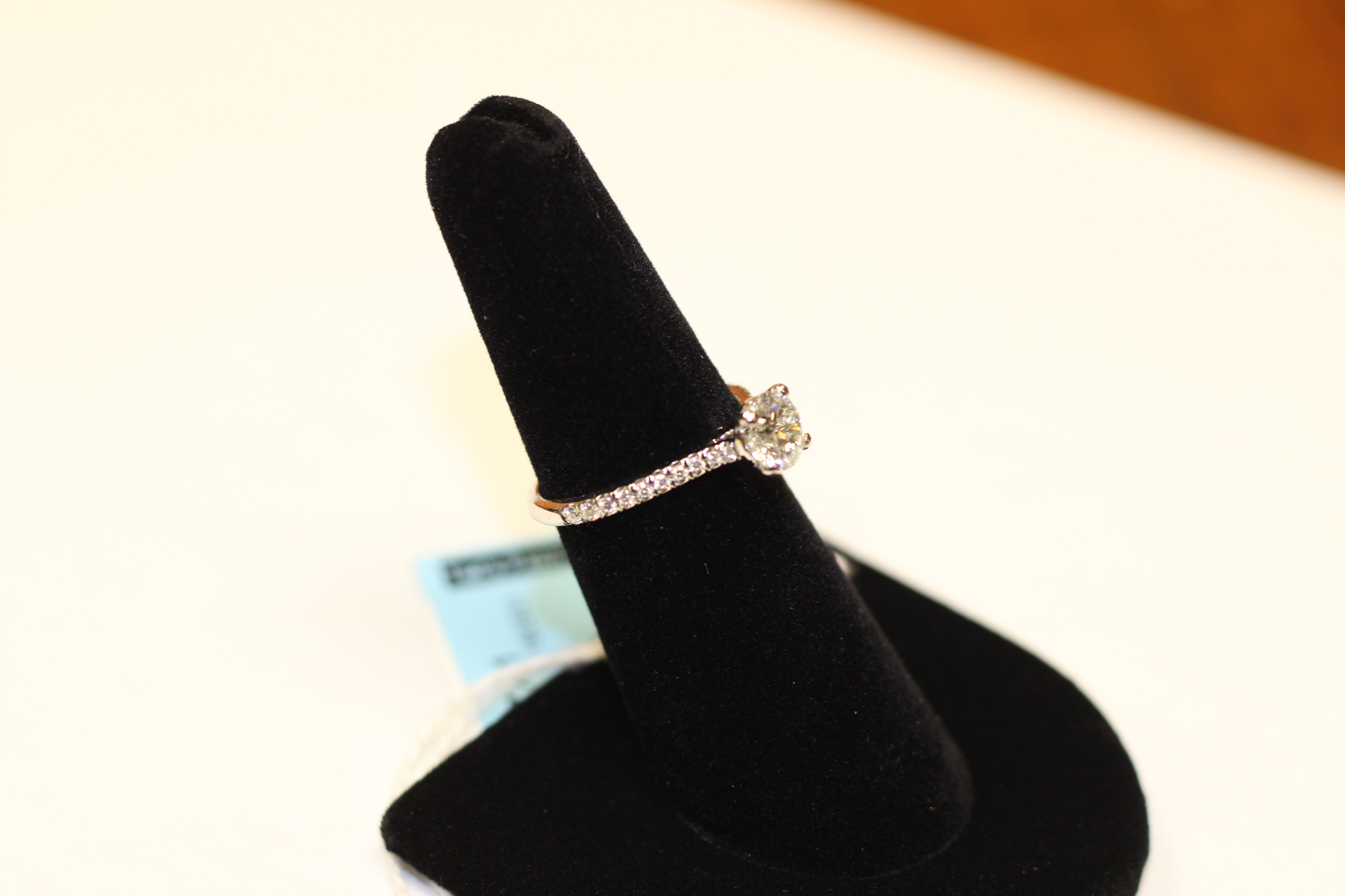 14kwg 0.97ct RBC Ladies' Diamond Engagement Ring EGL USA ...